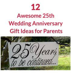 12 Awesome 25th Wedding Anniversary Gift Ideas for Parents 25 Wedding Anniversary Gifts, Anniversary Gifts For Parents, Anniversary Rings, Parent Gifts, Parents Anniversary Gifts