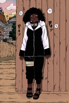 Nossa que linda❤😍 Black Cartoon Characters, Black Girl Cartoon, Black Girl Art, Hinata Hyuga, Boruto, Naruhina, Naruto Shippuden, Cartoon Kunst, Cartoon Art