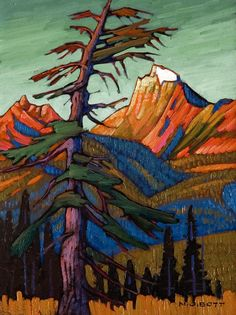 "SOLD ""Canadian Border Peak,"" by Nicholas Bott 12 x… – akidsroomideas. Canadian Painters, Canadian Artists, Landscape Art, Landscape Paintings, Landscape Photography, Photography Ideas, Group Of Seven Paintings, Group Of Seven Artists, Impressionist Art"