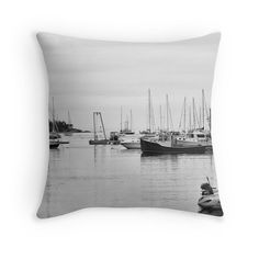 Fishing Boats Pillow Cover Photo Pillow by JessPetersonPhotos, $40.00