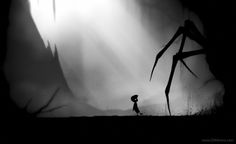"This game is called ""Limbo."" In the game, you're a nameless boy who journeys through a place known as Limbo. Some in the Catholic faith believe Limbo is the realm of afterlife where those who die without getting baptized go. Limbo is neither  heaven or hell. There are many interpretations of what Limbo is like. This interpretation is speculated to be the culminations of this boy's fears and his journey to obtain peace in death."