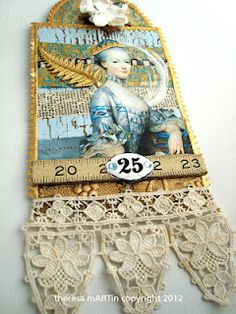 Beautiful Marie Antoinette Tag by Theresa Martin.