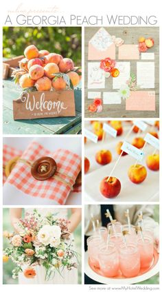 Georgia Peach Wedding Inspiration