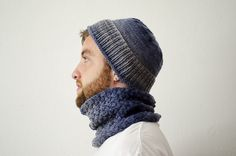 man wool beanie plus snood from testecalde by DaWanda.com