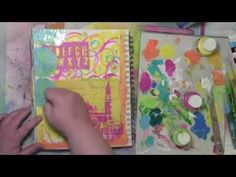 Getting rid of my stress by art journaling - YouTube
