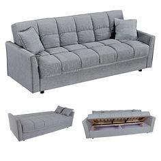Καναπές Κρεβάτι Former Grey 1 219X83X87 cm