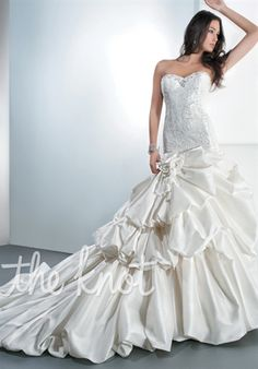 Beautiful Wedding Gown! #myfauxdiamond #bride #weddingdress  See our stunning bridal jewelry at http://www.myfauxdiamond.com/The-Bridal-Prom-Collection_c10.htm Demetrios 4309