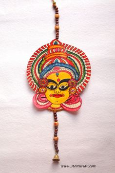 Door Hanging (3 Design Choices) Leather Painting Tholubommalata Home Decor Indian Handicraft - Andhra Pradesh Style from South India