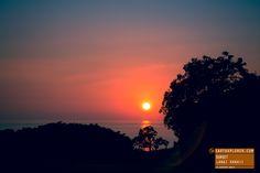 Red Lanai Hawaii Sunset