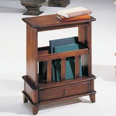 skinny end table drawer and book catch.