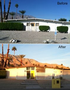 Palm Springs Home Before and After
