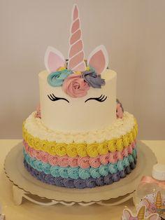 Unique Birthday Cakes, Birthday Cake Girls, Cake Designs For Boy, Unicorn Themed Birthday Party, Pony Cake, Unicorn Cupcakes, Girl Cakes, Party Cakes, Cake Decorating