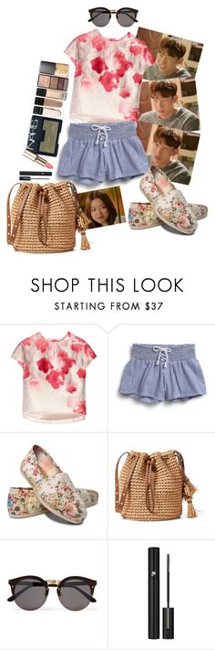 """Hanging out with friends"" by elliewriter ❤ liked on Polyvore featuring Lela Rose, Sperry, TOMS, Illesteva and Lancôme"
