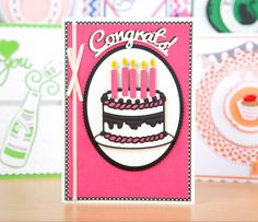 Celebrate those big occasions with the Tonic Studios Rococo Celebration Die Set! / cardmaking / birthday / wedding / celebration / good luck / papercraft / scrapbooking