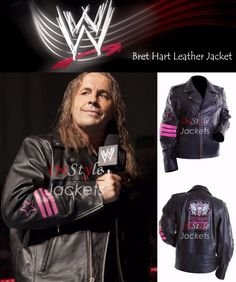 Instylejackets bring you the Bret Hart WWE Leather jackets for our costumers and we are giving 50% discount on this jacket and get free shipping and free gifts also.  #WWE #brethart #blackjacket #leatherjackets #menwear #menfashion #fashion #fashionista #leatherfashion #celebrityjackets