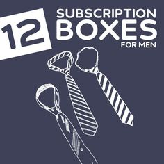12 Cool Subscription Boxes for Men (My favorite gifts for 2014!) - get goodies delivered to your door every month with these great subscription boxes.