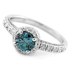 Jewelry Point - 0.90ct SI1 Fancy-Blue Diamond Engagement Ring, $1,250.00 (http://www.jewelrypoint.com/0-90ct-si1-fancy-blue-diamond-engagement-ring/)