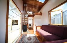 Living Big in a Tiny House - Jeff Hobbs - Tiny house on wheels - Living Room - Humble Homes