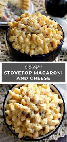 Side dish recipes 482166703857873011 - This Creamy Stovetop Macaroni and Cheese takes just minutes to prepare, contains two types of cheese, and is creamy, hearty, and delicious! Italian Recipes, New Recipes, Snack Recipes, Dinner Recipes, Cooking Recipes, Favorite Recipes, Cheese Recipes, Pasta Recipes, Chicken Recipes