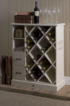I like this idea for the wine rack
