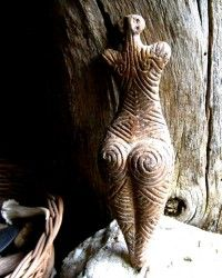 Magickal Ritual Sacred Tools:  Prehistoric Ceramic Figures and Early Earth Goddesses, by Earthen.