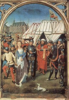 Martyrdom of St Ursula by Hans Memling, c.1489
