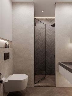 Every bathroom remodel starts with a style concept. From full master bathroom renovations, smaller sized guest bathroom remodels, and bathroom remodels of all sizes. Simple Bathroom Designs, Bathroom Design Luxury, Home Interior Design, Toilet And Bathroom Design, Washroom Design, Interior Ideas, Interior Decorating, Grey Bathrooms, Small Bathroom