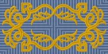 """tapestry kit for a traditional scrollwork design in oblong 12"""" by 24"""""""