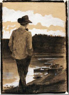 Umberto Boccioni_ Young Man on a Riverbank, 1902