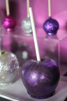 Glitter Candied Apples  Glittered Apple Halloween Fall Sweet Table
