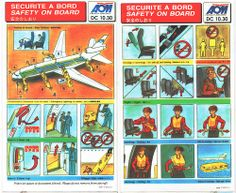 AOM French Airlines Douglas DC-10-30 Safety Card