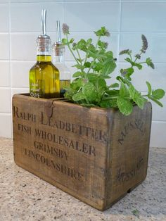 Vintage Fishmonger Box - perfect for kitchen