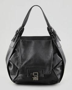 Valerie Flap-Front Shoulder Bag, Black by Kooba at Neiman Marcus.