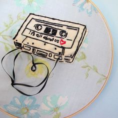 Another clever embroidered piece by Lucky Jackson