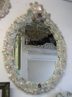 Mirror made of shells and jewels.....