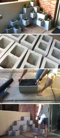 Create your own inexpensive, modern and fully customizable DIY outdoor succulent planter using cinder blocks, landscaping fabric, cactus soil, and succulents diy garden box Make This Inexpensive And Modern Outdoor DIY Succulent Planter Using Cinder Blocks Outdoor Projects, Garden Projects, Home Projects, Outdoor Decor, Outdoor Living, Outdoor Ideas, Backyard Projects, Outdoor Spaces, Rv Living