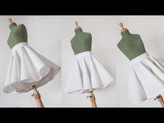 Tutorial falda de doble capa o doble circular Kids Dress Patterns, Skirt Patterns Sewing, Baby Pageant Dresses, Stitching Dresses, Skirt Tutorial, Dress Tutorials, Clothing Hacks, Fashion Sewing, Diy Dress