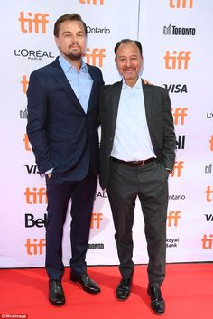 Activist: Leonardo caught up with the documentary's director Fisher Stevens on the red carpet