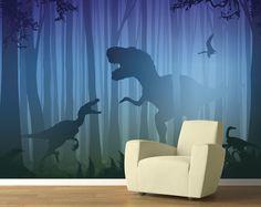 T. rex in the Woods Mural