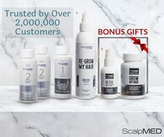 We took the time and effort to make a proprietary hair loss treatment✅that delivers THICKER and STRONGER hair💯 Scalp Med® improves your hair WITHOUT surgery, side effects, wigs, weaves or cover-ups, that are common with other hair-restoration products❌ Scalp Med, Hair Scalp, Hair Regrowth, Take Care Of Yourself, Improve Yourself, Hair Restoration, Strong Hair, Hair Loss Treatment, Side Effects