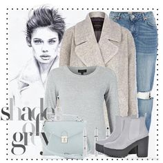 Wearing a neutral mix of wool coat and ripped jeans #aw14 #fashion #style #inspiration