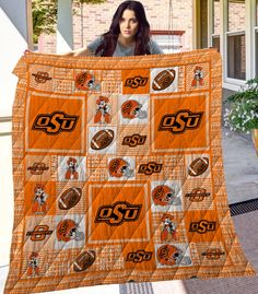 Oklahoma State University, Alexander Mcqueen Scarf, Quilts, Boys, Baby Boys, Quilt Sets, Quilt, Log Cabin Quilts, Sons