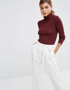Buy New Look Rib Roll Neck Top at ASOS. With free delivery and return options (Ts&Cs apply), online shopping has never been so easy. Get the latest trends with ASOS now. I Get Money, Roll Neck Top, Who What Wear, Asos, Layers, Turtle Neck, Street Style, Style Inspiration