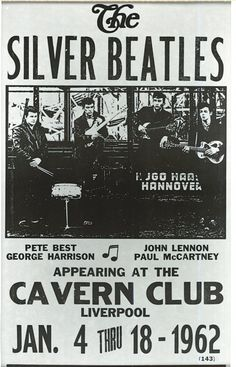 The Silver Beatles at The Cavern Club, Liverpool Jan. 4 thru 18, 1962