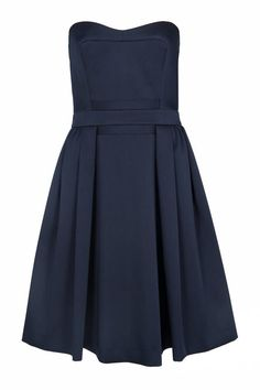 French Connection Techno Princess Strapless Dress, $249.99; frenchconnection.com   - ELLE.com