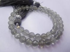 """""""FULL 8"""" STRAND NATURAL gray moonstone round shape ball beads 5 mm 50cts Jewelry making supplies"""""""