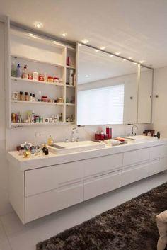 Banheiros Brancos Decorados: Lindas Inspirações! continue lendo...