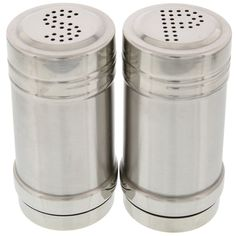 Salt and Pepper Shakers High Quality Modern Stainless Steel Kitchen Gadgets Dining Utensils Cooking Tools 3.5 inch NHT048