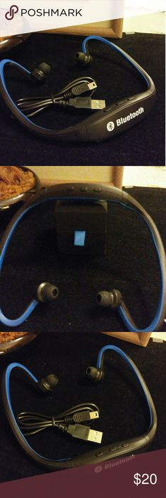 S9 Sports Wireless Bluetooth headset This item is blue and black it takes approximately 2 hours to charge it obviously plays music it also answers calls rejects call support redialing last call and it is the perfect item for those who like to work out because for one it is wireless and it also has a headband to keep it on your head is item can also be for women as well it says men but it is a unisex item Accessories