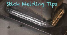 Stick Welding Tips for Beginners - Trades For Careers - Welding Projects about you searching for. Welding Jobs, Welding Art, Welding Ideas, Welding Design, Welding Funny, Welding Crafts, Stick Welding Tips, Mig Welding Tips, Welding For Beginners